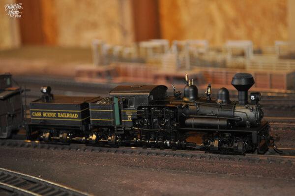 HO scale model train