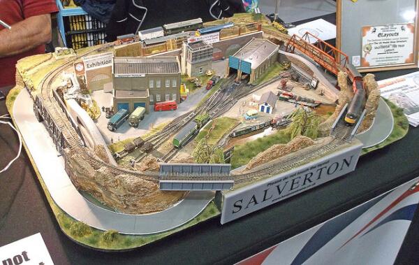 N scale model layout