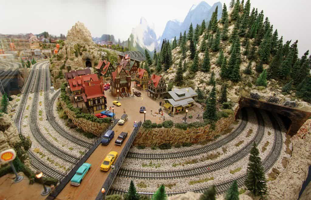 model train layout