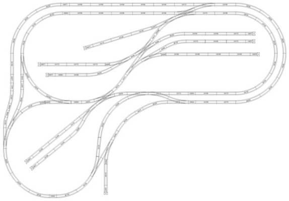 Marklin model Train Layout