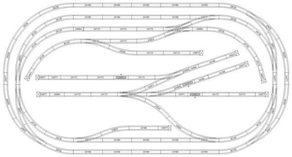 Marklin Train Track Layout
