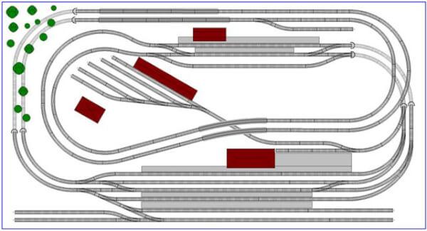 N Scale Train track layout