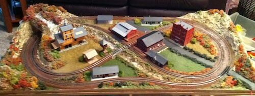 Small model train layout