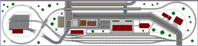 n scale railroad shelf layout plan
